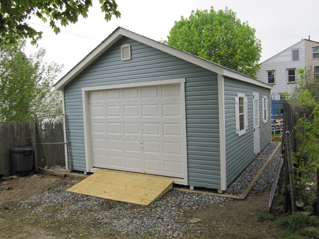 mid sized lucas garage - Garden Sheds Northern Virginia