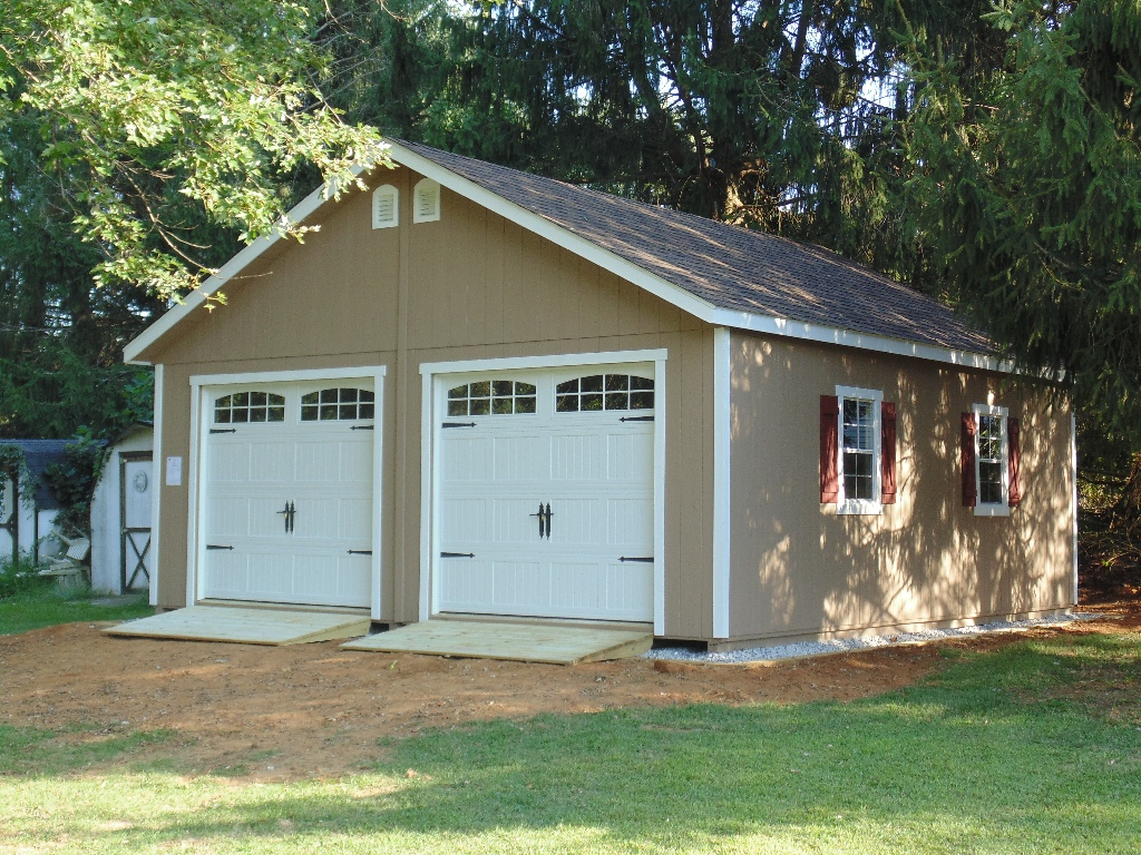 24x28 foot lp raised roof garage - Garden Sheds Northern Virginia